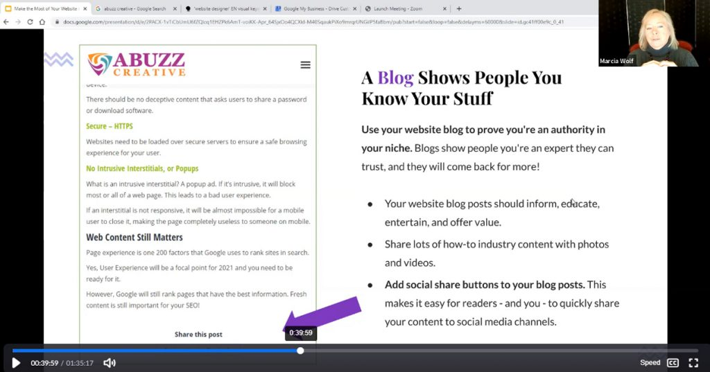 Blog Shows People You Know Your Stuff