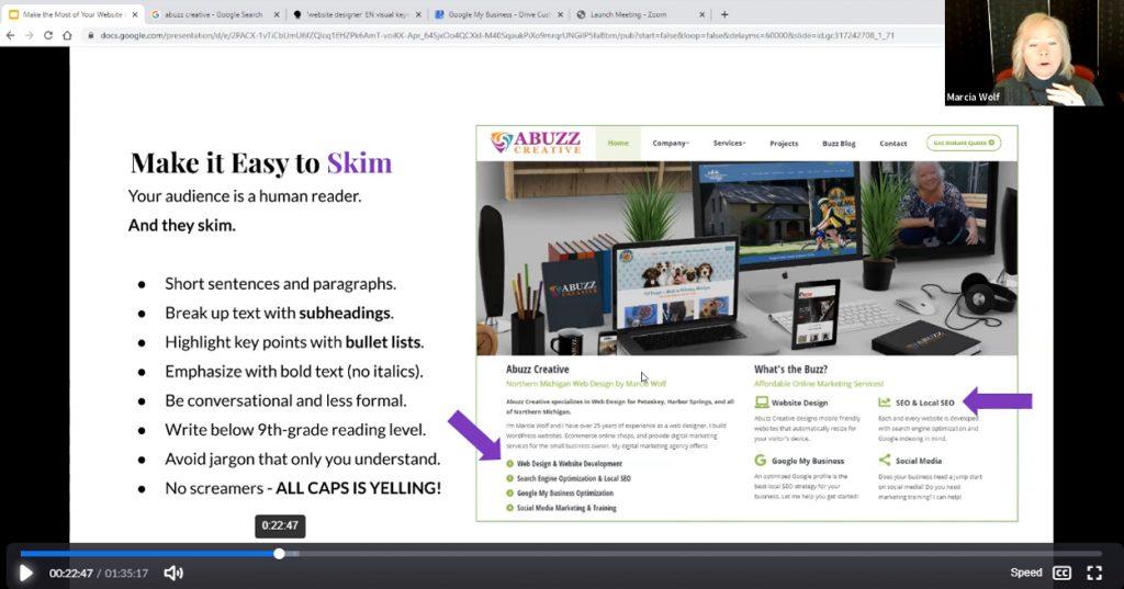 Make Website Easy to Skim
