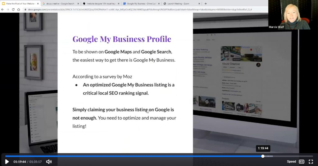 Optimize Google My Business Profile