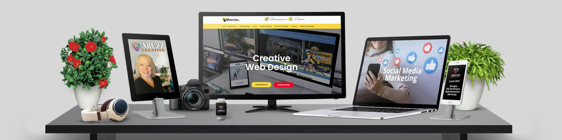 Abuzz Creative Web Design Northern Michigan Marcie Wolf